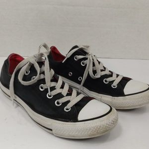 Converse All Star Black Sneakers W Pink Trim 8